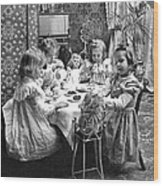 Tea Party, C1902 Wood Print