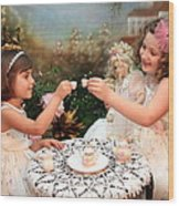 Tea Party Wood Print