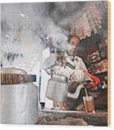 Tea Seller Wood Print