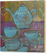 Tea Spot Wood Print