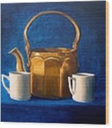 Tea Time Wood Print by Janet King