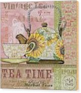 Tea Time-jp2579 Wood Print