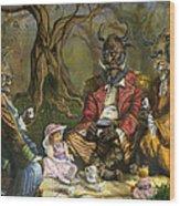 Tea With The Ogres Wood Print