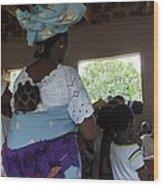 Teacher Backing Her Baby  Wood Print