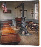 Teacher - First Day Of School Wood Print by Mike Savad