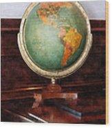 Teacher - Globe On Piano Wood Print