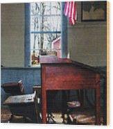 Teacher - Schoolmaster's Desk Wood Print