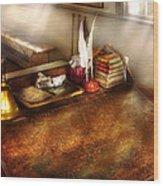Teacher - The School Room Wood Print by Mike Savad