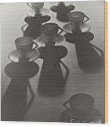 Teacup Ballet Wood Print