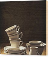 Teacups Wood Print