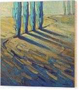 Teal Wood Print