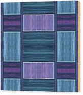 Teal Square Dreams Two Wood Print