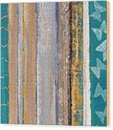 Teal Tango Wood Print