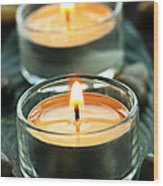 Tealights Wood Print
