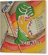 Team Germany Fifa Champions Wood Print