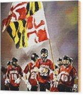 Team Maryland  Wood Print
