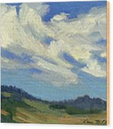 Teanaway Passing Clouds Wood Print