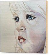 Tear Stains Wood Print