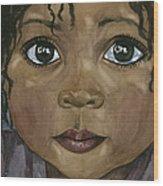 Ebony's Tears Wood Print
