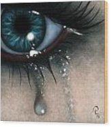 Tears Wood Print