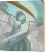 Teary Dreams Pastel Abstract Wood Print