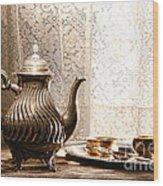Teatime Wood Print by Olivier Le Queinec