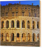 Teatro Di Marcello Wood Print