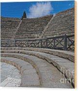 Teatro Grande Or Grand Amphitheater Pompeii Italy Wood Print