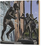 Tebow Spurrier And Wuerffel Uf Heisman Winners Wood Print