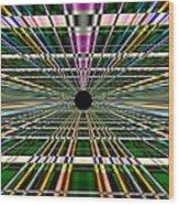 Technological Black Hole Wood Print