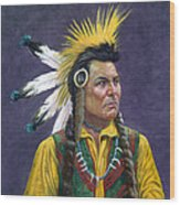 Tecumseh Wood Print