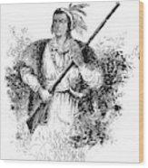 Tecumseh, Shawnee Indian Leader Wood Print