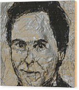 Ted Bundy In Black And White Wood Print
