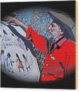 Ted Degrazia Los Ninos Oil Petley Post Card C.1967-2013 Wood Print