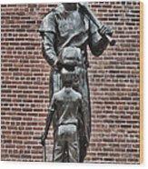 Ted Williams Statue - Boston Wood Print by Joann Vitali