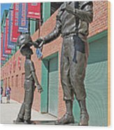 Ted Williams Statue Wood Print