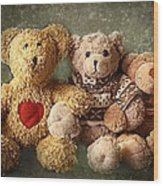 Teddies Wood Print