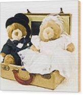 Teddy Bear Honeymoon Wood Print
