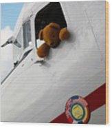 Teddy Bear Pilot Wood Print