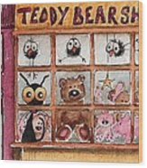 Teddy Bear Shop Wood Print