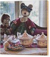 Teddy Bear Tea Party Wood Print