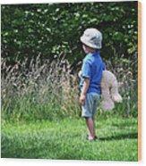 Teddy Bear Walk Wood Print