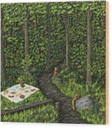 Teddy Bears' Picnic Wood Print