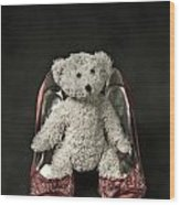 Teddy In Pumps Wood Print