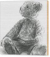 Teddy Study Wood Print