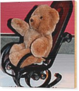 Teddy's Chair - Toy - Children Wood Print by Barbara Griffin