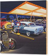 Teds Drive-in Wood Print