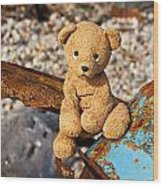 Ted's On The Rust Pile Wood Print