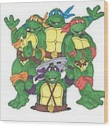 Teenage Mutant Ninja Turtles  Wood Print by Yael Rosen