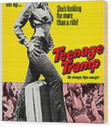 Teenage Tramp, Alisha Fontaine, 1973 Wood Print